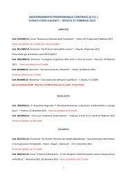 aggiornamento professionale continuo (apc) elenco corsi validati