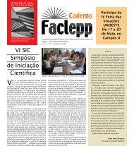 VI SIC Simpósio de Iniciação Científica - Unoeste
