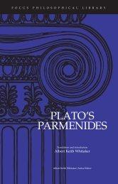 Plato's Parmenides - Focus Publishing