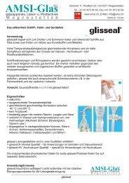 glisseal - Laborfett - AMSI Glas AG, Glasapparate, Labor