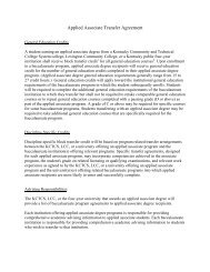 Applied Associate Transfer Agreement - Council on Postsecondary ...