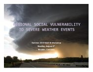 Regional Social Vulnerabilities - Societal Impacts Program