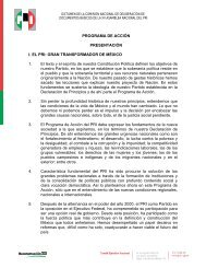 Programa de Acción del PRI - Instituto Estatal Electoral