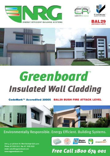 NRG Greenboard™ Specification Booklet V7