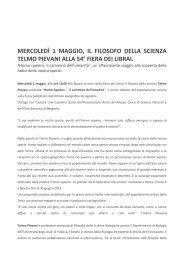 mercoledì 1 maggio, il filosofo della scienza ... - L'Eco di Bergamo