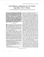 Area-efficient architectures for the Viterbi algorithm. I ... - STAR | UCSD