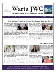 Warta JWC (Feb'07).FH11 - binus university