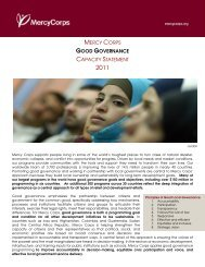Governance Capacity Statement - USAID Learning Lab