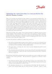 Optimizing the control procedure in a mass-production line ESGI-57 ...