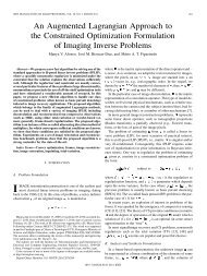 An Augmented Lagrangian Approach to the ... - IEEE Xplore