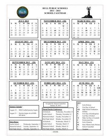 2013-2014 School Calendar - Town of Hull