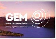 GEM Overview Brochure - Global Earthquake Model