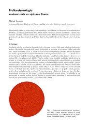 podrobný a více fyzikální text o helioseismologii - Astronomický ...