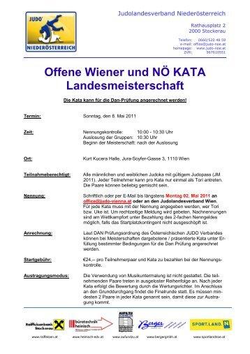 Ausschreibung - Judo Landesverband Niederösterreich