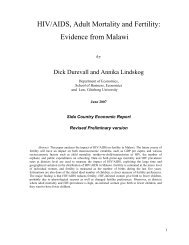 HIV/AIDS and Fertility: Evidence from Malawi