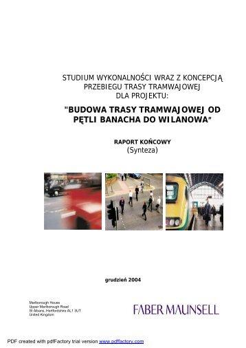 budowa trasy tramwajowej od pętli banacha do wilanowa - SISKOM