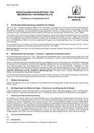 Anleitung zur Vertragsniederschrift - Ärztekammer Berlin