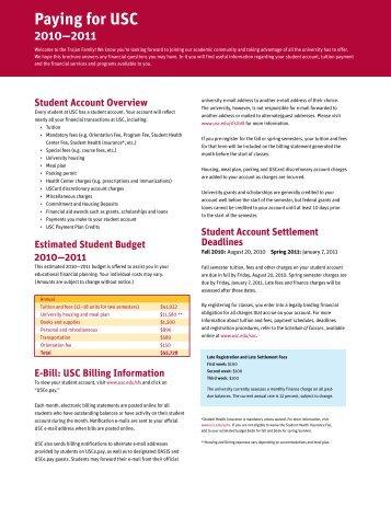 We - USC Student Affairs Information Technology - University of ...