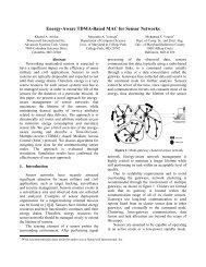 Energy-Aware TDMA-Based MAC for Sensor Networks - Computer ...