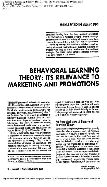 psychological theories of advertising Content marketing is a great way to use the reciprocity theory, as any content created for your audience should be insightful, beneficial, and free for them to read or use the content you are giving your customers could be helpful articles and blog posts, free e-books to download, online webinars they can join in with or informative podcasts.