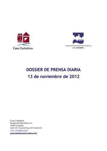 DOSSIER DE PRENSA DIARIA 13 de noviembre de 2012 - ISOTools