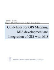 GIS & MIS Guidelines - Ministry of Housing & Urban Poverty Alleviation