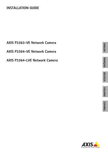 INSTALLATION GUIDE AXIS P3363-VE Network Camera ... - IP Way