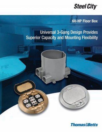 Universal 3-Gang Design 68-HP