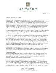Recommended Capital Improvement Program ... - City of HAYWARD