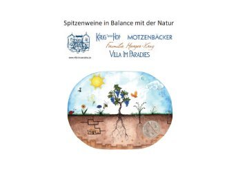 Spitzenweine in Balance mit der Natur - Villa Im Paradies