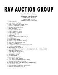General Goods Auction Catalogue Auction Date 17/01/13 @6:30pm ...