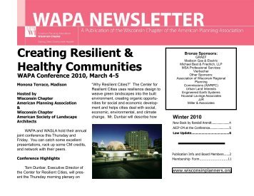Winter 2010 - American Planning Association, Wisconsin Chapter