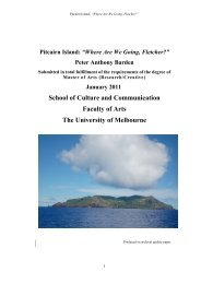 """Pitcairn Island: """"Where Are We Going, Fletcher?"""" - University of ..."""