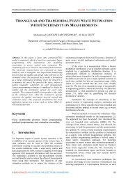 Triangular and Trapezoidal Fuzzy State Estimation with Uncertainty ...