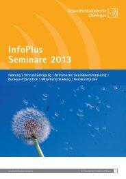 Infoplus Seminargrogramm 2013 (pdf). - Gesundheitsakademie ...
