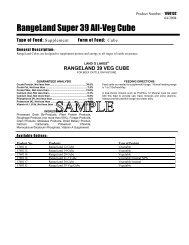 RangeLand Super 39 All-Veg Cube - Beeflinks