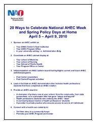 20 Ways to Celebrate National AHEC Week