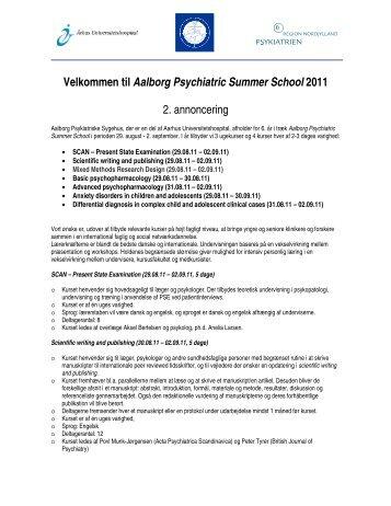 Velkommen til Aalborg Psychiatric Summer School 2011 - Dansk ...