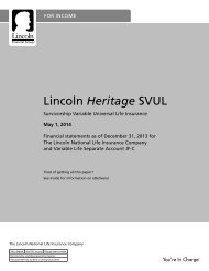 Product and Funds Prospectus - Lincoln Financial Group