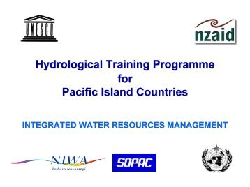 Water Resources Management - WHYCOS