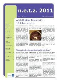 Tätigkeitsbericht n.e.t.z. 2011