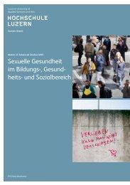 Sexuelle Gesundheit im Bildungs-, Gesund - heits- und Sozialbereich