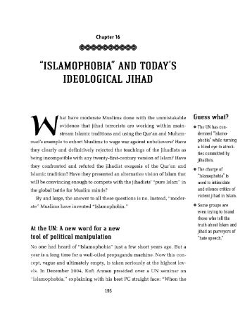 """islamophobia"" and today's ideological jihad - Understanding ..."