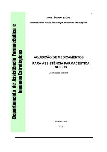 Aquisição de medicamentos para a assistência farmacêutica
