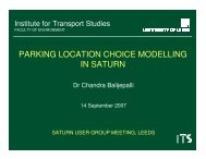 Part 3(L) Parking Location Choice Modelling in SATURN (ITS Leeds)