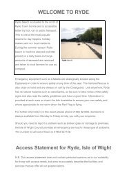 WELCOME TO RYDE - Isle of Wight Council