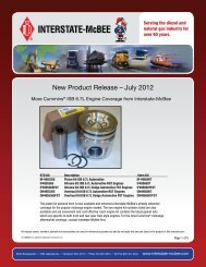 New Product Release – July 2012 - Interstate McBee