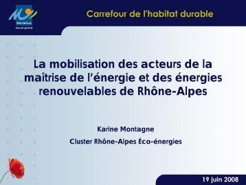 La mobilisation des acteurs de la maîtrise de l'énergie et des ...