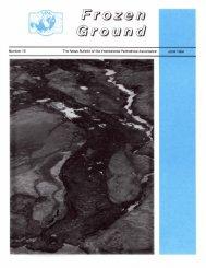 Number 15, June 1994 - International Permafrost Association