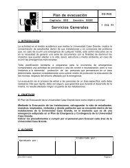Plan Evacuacion - Universidad Casa Grande